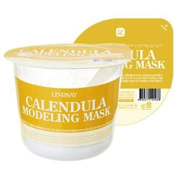 Lindsay Моделирующая альгинатная маска для лица с экстрактом календулы, 30 г.ДЛЯ КОЖИ СКЛОННОЙ К ВОСПАЛЕНИЯМ И УГРЕВОЙ СЫПИ<br>Альгинатные маски ; популярное в салонах косметическое средство, основа которого ; альгин, способствует более глубокому и эффективному проникновению активных компонентов в слои кожи. Календула оказывает регенерирующее и антиоксидантное действие, регулирует работу сальных желез.  Идеально справляется с акне, регулирует pH баланс кожи.  Способ применения:  <br><br>Залейте содержимое упаковки водой до установленной метки (линия по периметру упаковки).<br>Размешайте до образования однородной гелеобразной массы.<br>Нанесите маску на лицо.<br>Оставьте на лице на 15-20 минут.<br>Начиная с нижнего края, аккуратно удалите маску с лица.<br><br>Состав: диатомовая земля, глюкоза, альгин, сульфат кальция, пирофосфат калия, карбонат магния, порошок цветов календулы (0,15%), аллантоин, альгинат калия, бетаин, аденозин, экстракт портулака огородного, экстракт корня шлемника байкальского, экстракт центеллы азиатской, карбоксиметилцеллюлоза, бензоат натрия, сорбат калия, отдушка.<br>