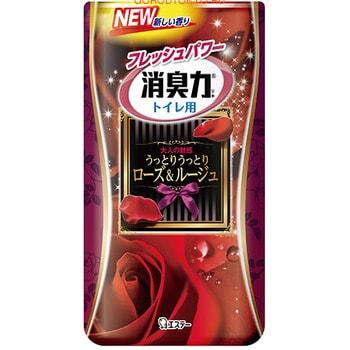 "ST ""Shoushuuriki"" Жидкий дезодорант – ароматизатор для туалета с ароматом розы, 400 мл."