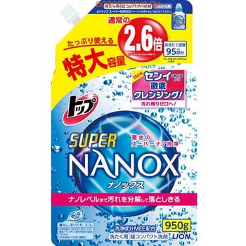 LION «Top Super NANOX» Жидкое средство для стирки, запасной блок, 950 г.