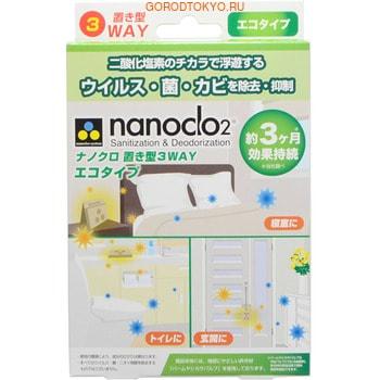PROTEX Nanoclo2 Блокатор вирусов для помещений, контейнер с крючком, мягкая упаковка, 1 шт.ВИРУС-БЛОКАКАТОР NEW!<br>Уникальная разработка японских ученых ; блокатор вирусов для дезинфекции и дезодорации воздуха в помещении.  Действующее вещество ; диоксид хлора, обладающий высокими дезинфицирующими свойствами.  Оказывает моментальное действие, окисляя белковую структуру вирусов и бактерий, тем самым блокируя их распространение.  Небольшой контейнер размером 90 мм х 90 мм х 37 мм эффективно уничтожает на площади 9,6 квадратных метров практически все известные вирусы, бактерии, грибки и аллергены.  Абсолютно безопасен для организма.  Может использоваться для защиты беременных женщин, детей с грудного возраста и пожилых людей от инфекций.  Идеально подходит для обеззараживания воздуха в жилых помещениях, офисах, больницах, детских учреждениях, домах престарелых, в автомобилях и общественном транспорте.  После вскрытия упаковки эффективен в течение 90 дней.  Способ применения: извлеките из упаковки, установите горизонтально или вертикально на стол, полку или другую удобную поверхность, или подвесьте с помощью крючка.  Состав: хлорит натрия, силикат магния.<br>