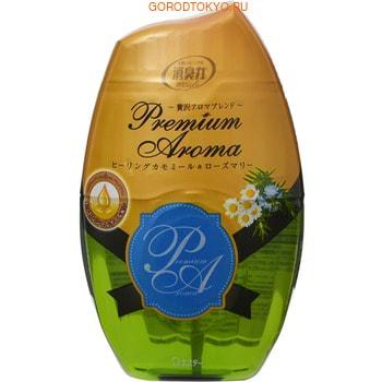 "ST ""Shoushuuriki"" Жидкий дезодорант–ароматизатор для комнат с ароматом ромашки и розмарина, 400 мл."