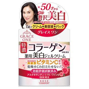 """KOSE Cosmeport """"Grace One"""" Антивозрастной крем для лица c отбеливающим эффектом и витамином С, 3 в 1 после 50 лет, банка 100 гр. (фото)"""