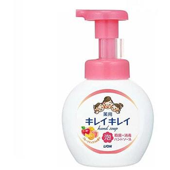 """Lion Lion """"KireiKirei-Фруктовый микс"""" Жидкое мыло-пенка для рук для детей и взрослых с антибактериальным эффектом, 250 мл."""