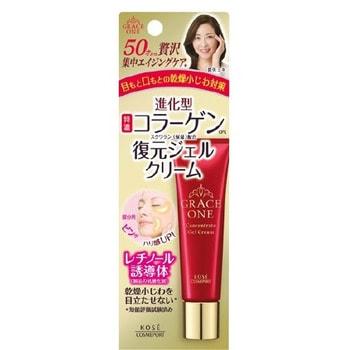 """Kose Cosmeport """"Grace One"""" Интенсивно восстанавливающий гель-крем для кожи вокруг глаз и губ, после 50 лет, туба 30 гр. (фото)"""