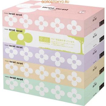 NEPIA «Nepi Nepi» Двухслойные бумажные салфетки с цветочным ароматом, 5 х 160 шт.Бумажные салфетки<br>Качественные мягкие салфетки производятся из 100 % целлюлозы первичной переработки.  Салфетки имеют легкий цветочный аромат.  Салфетки легко достать из коробки, они не рвутся и не оставляют пыль.  Благодаря водонерастворимой формуле они хорошо впитывают загрязнения и не расклеиваются.  При производстве не применяются флуоресцентные отбеливатели.<br>