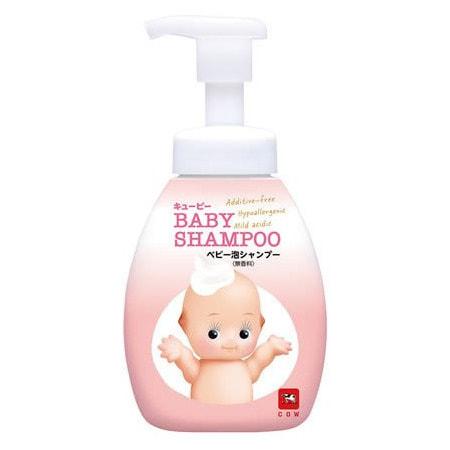 """COW """"Kewpie"""" Детский шампунь-пенка для волос """"Без слёз"""", с первых дней жизни, с ароматом детского мыла, 350 мл."""