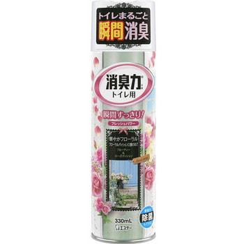 ST «Shoshuriki» Освежитель воздуха для туалета «Цветочная страсть», с антибактериальным эффектом, 330 мл.