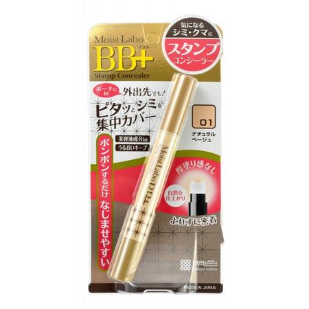 """Meishoku """"Moist-Labo BB+ Stamp Concealer"""" Точечный консилер (со спонжем), тон 1 (натуральный беж). (фото)"""