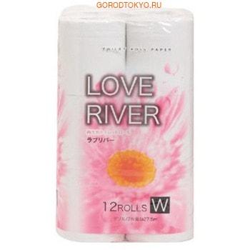 IDESHIGYO LOVE RIVER Туалетная бумага двухслойная, двухслойная, белая, 27.5 м, 12 рулонов.Туалетная бумага<br>Экологически чистая бумага из переработанного сырья.  Этот продукт изготовлен используя только 100% переработанную бумагу, на основе переработанной домашней и офисной макулатуры.  Это является полезным для защиты окружающей среды и для экономии природных ресурсов. Мягкая на ощупь бумага с тиснением. Рулоны сделаны из приятной по качеству бумаги, с мягкими вкраплениями в складках на лицевой поверхности.  Нежная, тонкая, но в тоже время очень прочная, бумага не расслаивается и отрывается строго по линии перфорации.<br>