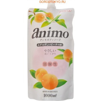 ROCKET SOAP «Animo» Мыло для тела слабощелочное, с ароматом персика, мягкая упаковка, 1000 мл.Гели для душа, жидкое крем-мыло<br>Нежное мыло Rocket Soap Animo мягко удаляет загрязнения, не нарушая естественный рН-баланс кожи.  Образует воздушную густую пену, которая окутывает Вас сладким ароматом сочного персика.  Ухаживающие ингредиенты питают и смягчают кожу, придавая ей гладкость и бархатистость.  Экстракт листьев персика оказывает противовоспалительное и увлажняющее действие.  Мыло совершенно не сушит кожу, является слабощелочным средством.  Способ применения: для удобства перелейте средство из мягкой упаковки во флакон с дозатором.  Нанесите небольшое количество мыла на увлажненную кожу или мочалку, распределите массажными движениями по телу, смойте водой.  Состав: вода, лауретсульфат натрия, кокамид DEA, пропиленгликоль, кокамидопропилбетаин, лауриновая кислота, дистеарат, глицерин, экстракт листьев персика, ЭДТА-4Na, бензоат натрия, ароматизатор, бутилгидрокситолуол (консервант), яблочная кислота, бутиленгликоль.<br>