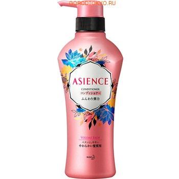 """KAO """"Asience"""" Кондиционер для увеличения упругости волос, с экстрактом женьшеня и протеинами шёлка, цветочно-фруктовый аромат, 450 мл."""