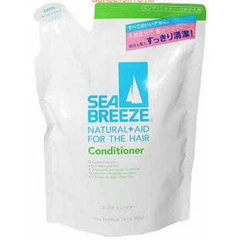 SHISEIDO «Sea Breeze» Кондиционер для волос Морской бриз для жирной кожи головы и всех типов волос, c ароматом морской свежести, запасной блок, 400 мл.ДЛЯ ЖИРНОЙ КОЖИ ГОЛОВЫ<br>Кондиционер Sea Breez для жирной кожи головы и всех типов волос эффективно улучшает состояние волос и кожи головы, особенно рекомендуется для повреждённых солнцем волос.  Традиционный компонент серии SEA BREEZE, L-ментол, приятно освежает кожу головы. Входящие в состав ингредиенты растительного происхождения и ценные аминокислоты бережно ухаживают за волосами, мгновенно реагируя на повреждённые участки.  В результате кожа головы и волосы становятся здоровыми, волосы легко и хорошо расчёсываются.  Обладает свежим ароматом морского побережья.  Способ применения: после использования шампуня нанесите кондиционер на чистые влажные волосы, распределите по всей длине легкими массирующими движениями.  Для улучшения эффекта оставьте средство на 2-3 минуты.  Затем смойте водой.  Состав: вода, стеариловый спирт, бегениловый, гидроэтилмониум метосульфат, тримониум Al, хлорид, глутаминовая кислота, аргинин, гидролизованный пшеничный белок, молочная кислота, камфора, ментол, гидролизованный пшеничный крахмал, оксид пальмитат, амодиметикон, PG, диметикон, изопропанол, лимонная кислота, лимонная кислота Na, стеароксиметилсилан, гидроксипропилметилцеллюлоза, феноксиэтанол, ароматизатор.<br>