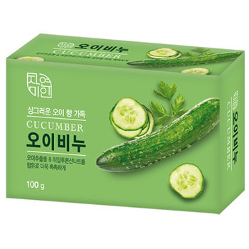 MUKUNGHWA «Moisture Cucumber Soap» Увлажняющее косметическое мыло с экстрактом огурца, 100 г.Туалетное кусковое мыло<br>Экстракт огурца и гиалуроновая кислота эффективно увлажняют и восстанавливают кожу.  Огурец используется в качестве средства для увлажнения и отбеливания кожи, он сделает кожу свежей и сияющей.  Гиалуроновая кислота проникает вглубь кожи, помогая сохранить и удержать естественную влагу.  Не содержит опасных для здоровья компонентов. Имеет свежий приятный огуречный аромат.<br>