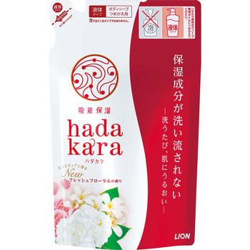 """Lion """"Hadakara"""" Увлажняющее жидкое мыло для тела, с ароматом изысканого цветочного букета, мягкая упаковка, 360 мл."""