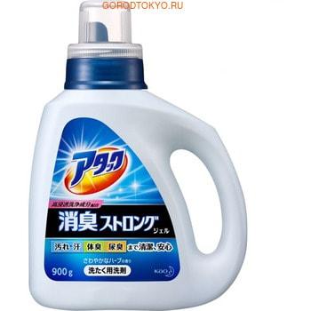 """KAO """"Attack"""" Высокоэффективный гель для стирки белья - устранение стойких загрязнений и запахов, с ароматом свежих трав, бутылка, 900 гр."""