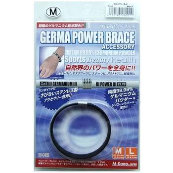 M-Kaep Германиевый браслет, размер М - 16,3 см, чёрный.