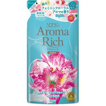 """LION """"Soflan Aroma Rich Sofia"""" Кондиционер для белья с женственным цветочным ароматом, сменная упаковка, 450 мл."""