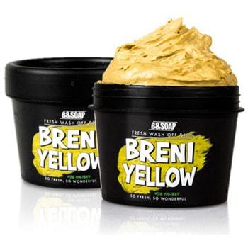 B&amp;SOAP «Fresh Wash Off Pack Breni Yellow» Питательная маска, 130 гр.КОРЕЙСКАЯ КОСМЕТИКА<br>Основными действующими компонент питательной маски являются экстракт меда, масло сладкого миндаля и масло оливы.  Мед интенсивно питает и насыщает кожу полезными микроэлементами, способствуя ускорению регенерации кожного покрова.  Миндальное масло и мало оливы, благодаря высокому содержанию витаминов, питает и повышает упругость кожи.  Экстракт алоэ вера обладают противовоспалительными и бактерицидными свойствами. Экстракт моркови очищает кожу от токсинов и улучшает ее внешний вид.   Применение: <br><br>Нанесите маску плотным слоем на очищенную кожу лица, избегая области вокруг глаз.<br>Оставьте на 5-10 минут до полного высыхания.<br>Тщательно смойте теплой водой.<br>Рекомендуется использовать 2-3 раза в неделю.<br><br>Состав: Water, Kaolin, Glycerin, Bentonite, Diatomaceous Earth, Aloe Barbadensis Leaf Extract, Corn Starch, Honey Extract, Lime Juice Hyaluronic Acid, Carrot Extract, Olive Oil, Macadamia Nut Oil, Sweet Almond Oil, Tumeric Root Powder, Xantham Gum, Allantoin, 1,2 Hexanediol, Caprylyl Glycol, Ethyhexyl Glycerin, Phenoxyethanol, Perfume.<br>