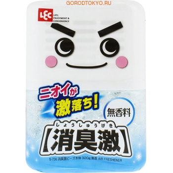 LEC Универсальный гелевый нейтрализатор посторонних запахов, без аромата, 320 гр.