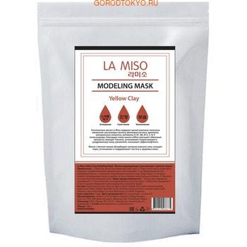 LA MISO Маска моделирующая (альгинатная) с желтой глиной, 1 кг.ДЛЯ КОЖИ СКЛОННОЙ К ВОСПАЛЕНИЯМ И УГРЕВОЙ СЫПИ<br>Альгинатные маски La Miso содержат целый комплекс полезных элементов: альгиновую кислоту, фолиевую кислоту, протеины, минеральные элементы, витамины A, B1, B6, B12, C, D, E полисахариды.  Благодаря этому маски La Miso улучшают обменные процессы, выводят токсины, успокаивают покрасневшую и раздраженную кожу, увлажняют, оказывают эффект лифтинга. Маска с желтой глиной абсорбирует излишки кожного сала, очищает поры, успокаивает и поддерживает чистоту и здоровье кожи.  Применение: <br><br>Нанесите тоник на очищенную кожу лица.<br>Подготовьте маску: размешайте порошок с водой комнатной температуры в соотношении 1:1 до образования густой однородной массы.<br>Нанесите получившуюся маску на кожу лица.<br>Через 15-20 минут снимите затвердевшую маску и удалите остатки тоником или влажным спонжем.<br>Нанесите на кожу лица увлажняющий крем.<br><br>Состав: Diatomaceous Earth, Glucose, Algin, Calcium Sulfate, Tetrasodium Pyrophosphate, Magnesium Oxide, Sodium Benzoate, Loess(0.2%), Portulaca Oleracea Extract, Sodium Hyaluronate, Allantoin, Glycyrrhiza Glabra Root Extract, Fragrance.<br>