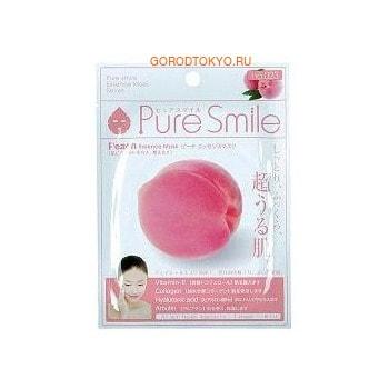 SUN SMILE «Pure Smile Essence mask» Обновляющая маска для лица с эссенцией персика, 1 шт.КОРЕЙСКАЯ КОСМЕТИКА<br>Еженедельный уход - это неотъемлемая процедура для полноценного ухода за кожей лица.  Необходимо каждую неделю использовать различные маски.  Преимущество нужно отдать увлажняющим, питательным, и маскам для повышения упругости кожи.  Все эти функции вы найдете в линии PURE SMILE.  Эти маски настоящие волшебные палочки, способные моментально преобразить вашу кожу.  Ведь сыворотка, которая используется для пропитки маски, имеет тройную концентрацию активных компонентов.  За короткое время воздействия, маска отдает всю силу полезных ингредиентов вашей коже.  Коллаген в составе сыворотки наполняет кожу влагой, восстанавливает плотность и упругость кожи.  Эссенция плодов персика повышает упругость кожи, активизирует естественные восстановительные процессы, оказывает увлажняющее и защитное действие для нежной кожи лица.  Способ применения: вскройте пакет с маской и нанесите ее на очищенное лицо, используя отверстия для глаз в качестве ориентиров.  Расслабьтесь и наслаждайтесь уходом за собой.  Через 10-15 минут аккуратно снимите маску.  Остатки сыворотки вбейте в кожу подушечками пальцев.  Использовать 2-3 раза в неделю.  Состав: вода, глицерин, PEG/PPG-17/6-сополимеры, ферментированный соевый экстракт, гидролизованный коллаген, вода с гамамелисом, экстракт плодов персика, глицирризиновая кислота 2K, ксантановая камедь, экстракт портулака, арбутин, эритрит, PEG-14М, гиалуроновая кислота Na, EDTA -2Na, метилпарабен, PEG-40 гидрогенизированное касторовое масло, PEG-60 гидрогенизированное касторовое масло, аллантоин, феноксиэтанол, ароматизатор, токоферола ацетат.<br>
