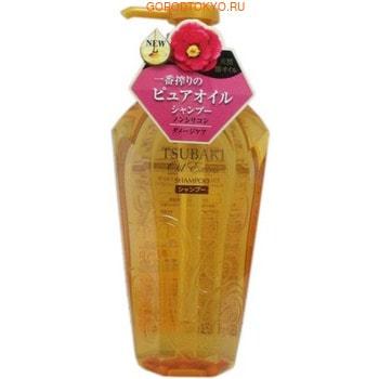 SHISEIDO «Tsubaki Oil Extra» Бессиликоновый шампунь для восстановления повреждённых волос, насыщенный маслом камелии, 450 мл.