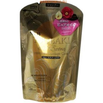 """Shiseido """"Tsubaki Oil Extra"""" Бессиликоновый шампунь для восстановления повреждённых волос, насыщенный маслом камелии, мягкая упаковка, 330 мл."""