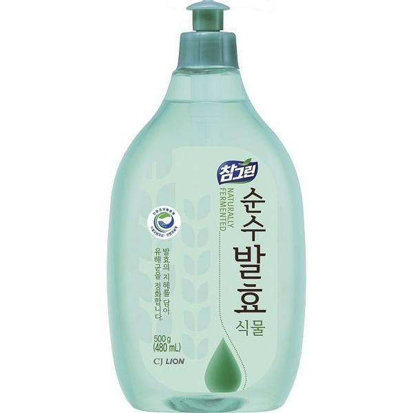 CJ LION «Chamgreen Pure Fermentation» Средство для мытья посуды «Растительные ферменты», 480 мл.