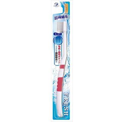 Dentalpro «Fresh Slim C21» Зубная щётка с компактной головкой, с тонкими щетинками, для профилактики пародонтоза, мягкая, 1 шт.