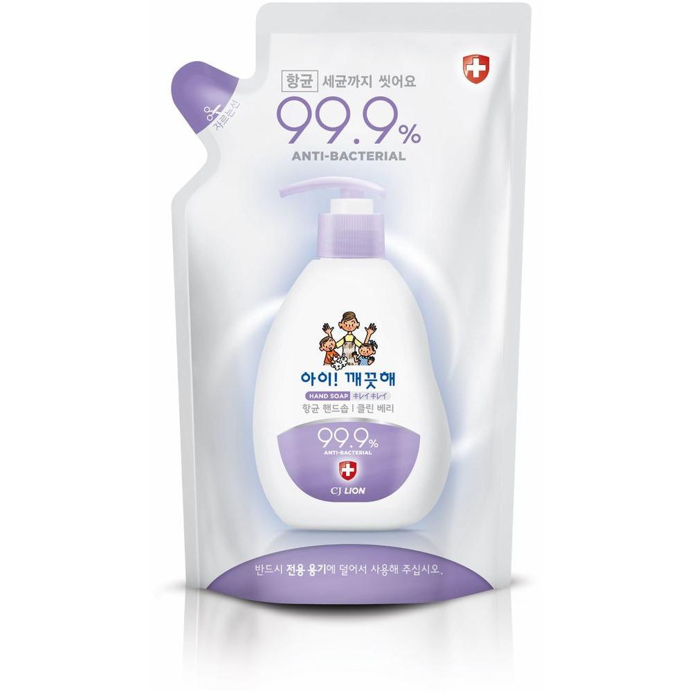 CJ LION «Ai - Kekute» Жидкое мыло для рук «Сочная ягода», с антибактериальным эффектом, запасной блок, 200 мл.