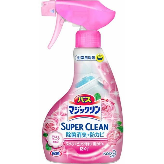 KAO «Magiclean Super Clean» Пенящееся моющее средство для ванной комнаты, с ароматом роз, 380 мл.