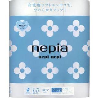 NEPIA «nepi nepi» Однослойная туалетная бумага, 50 м, 18 рулонов.
