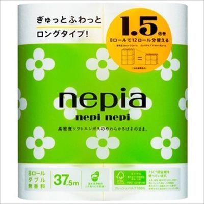 NEPIA «nepi nepi» Двухслойная туалетная бумага, 37,5 м, 8 рулонов.