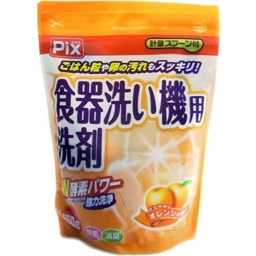 LION «Pix» Порошок для мытья посуды в посудомоечной машине, с двойной силой ферментов, с ароматом цитрусовых, 650 г.