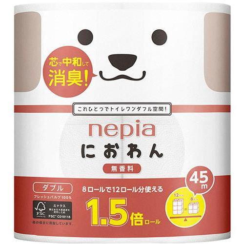 "NEPIA ""Niowan-niowanyan"" Двухслойная туалетная бумага, 8 рулонов по 45 м."