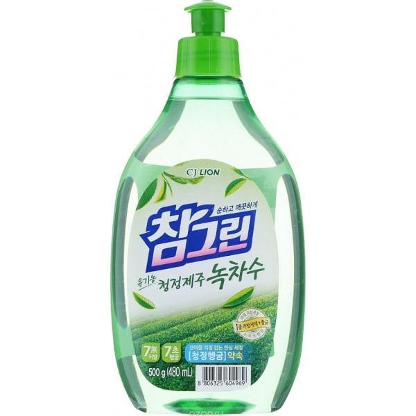 CJ LION «Chamgreen» Средство для мытья посуды, с ароматом зелёного чая, 480 мл.