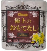 Crecia «Kleenex Best» Туалетная бумага для лучших друзей, с лёгким цветочным ароматом и кружевным тиснением, двухслойная, 4 рулона по 30 м.