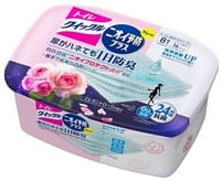 KAO «Quick Le Toilet Aroma» Дезодорирующие влажные салфетки для уборки туалета, с ароматом розы, плотные, растворимые в воде, 8 шт.