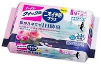 KAO «Quick Le Toilet Aroma» Дезодорирующие влажные салфетки для уборки туалета, с ароматом розы, плотные, растворимые в воде, запасной блок, 16 шт.