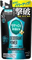 KAO «Resesh EX Plus» Суперэффективный дезодорант-нейтрализатор неприятных запахов для спортивной и рабочей одежды, с цитрусовым ароматом, запасной блок, 310 мл.