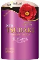 SHISEIDO «Tsubaki Volume Touch» Кондиционер для волос «Натуральный объём», с экстрактом камелии и аминокислотами, запасной блок, 345 мл.