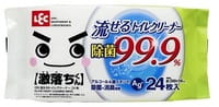 LEC Влажные салфетки для унитаза с ионами серебра, с дезодорирующим и дезинфицирующим эффектом, мягкая упаковка, 24 шт.