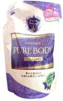 Mitsuei Увлажняющее крем-мыло для тела с гиалуроновой кислотой, коллагеном и экстрактом алоэ, с ароматом лаванды, мягкая упаковка, 400 мл.