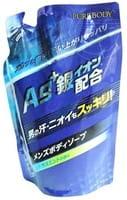 Mitsuei Увлажняющее крем-мыло для мужчин с ионами серебра, дезодорирующее, ароматом мяты и цитруса, мягкая упаковка, 400 мл.