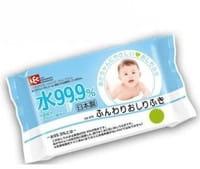 LEC Детские влажные салфетки, голубая пачка, 80 шт.