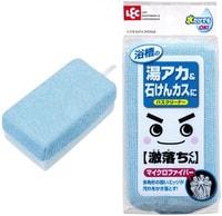 LEC Мягкая губка для чистки ванны без моющих средств (микрофибра + сеточка), 85х48х155 мм, 1 шт.