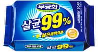 MUKUNGHWA «Laundry soap 99%» Стерилизующее хозяйственное мыло с повышенными отстирывающими свойствами, 230 г.