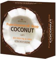 MUKUNGHWA Мыло туалетное твёрдое увлажняющее из 100% масла кокоса, с кокосовой копрой, 100 г.