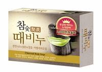 """Mukunghwa """"Charcoal Body Soap"""" Отшелушивающее и глубоко очищающее мыло для тела и лица c древесным углём, 100 гр."""