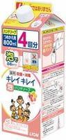 """LION """"KireiKirei-Фруктовый микс"""" Жидкое мыло-пенка для рук для детей и взрослых с антибактериальным эффектом, 800 мл."""